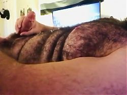 Another Bearded God Decides to Wank Shoot Load